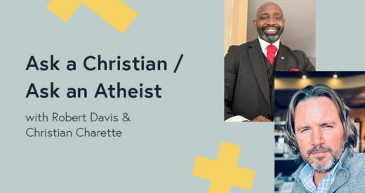 Robert Davis and Christian Charette headshots in a Diversity: Beyond the Checkbox graphic template.