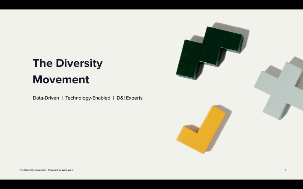 First Title Slide of The Diversity Movement's Brand Deck