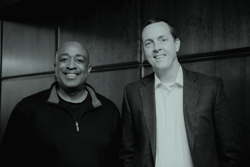 Earfluence's Jason Gillikin with Donald Thompson