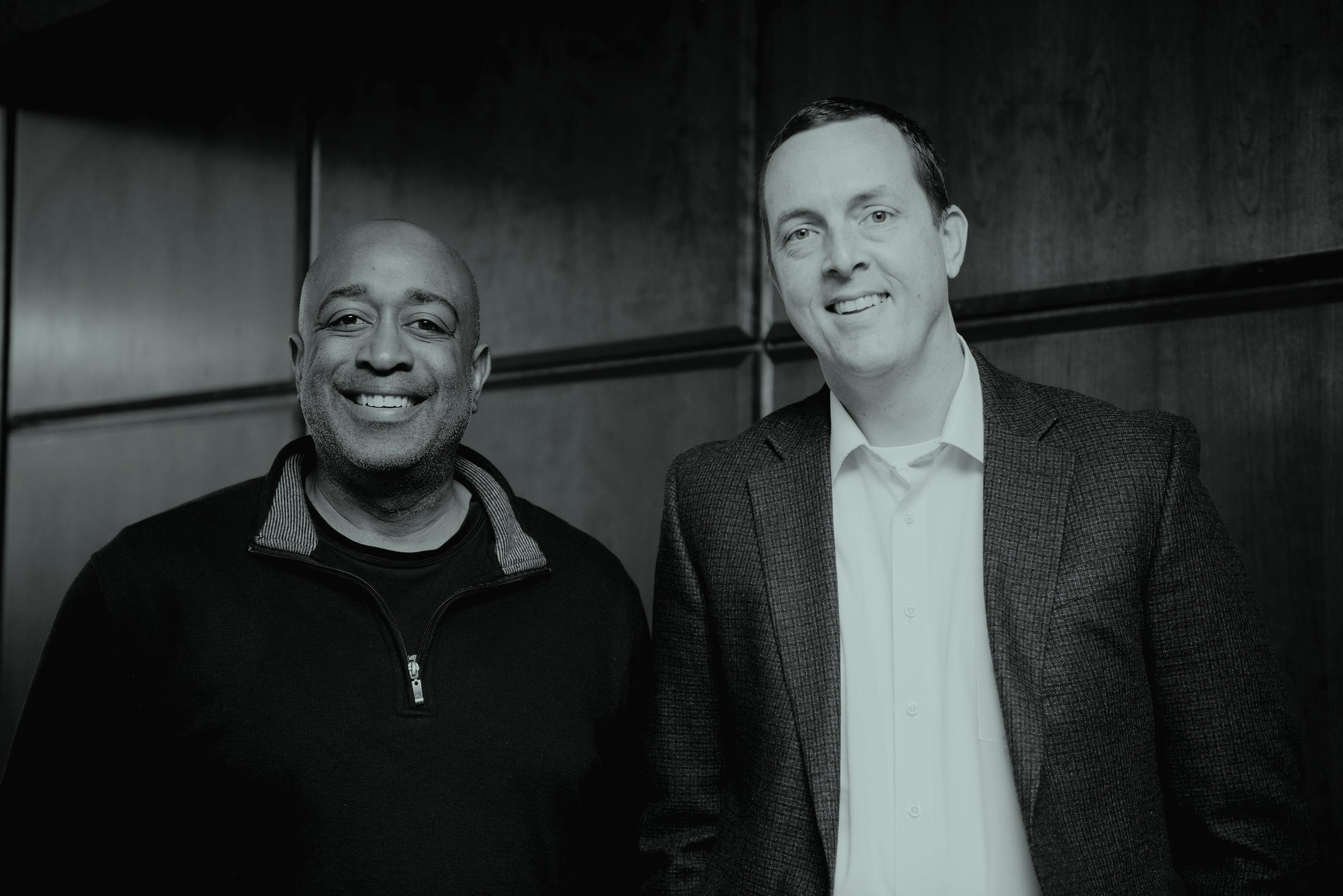 Earfluence's Jason Gillikin with Donald Thompson