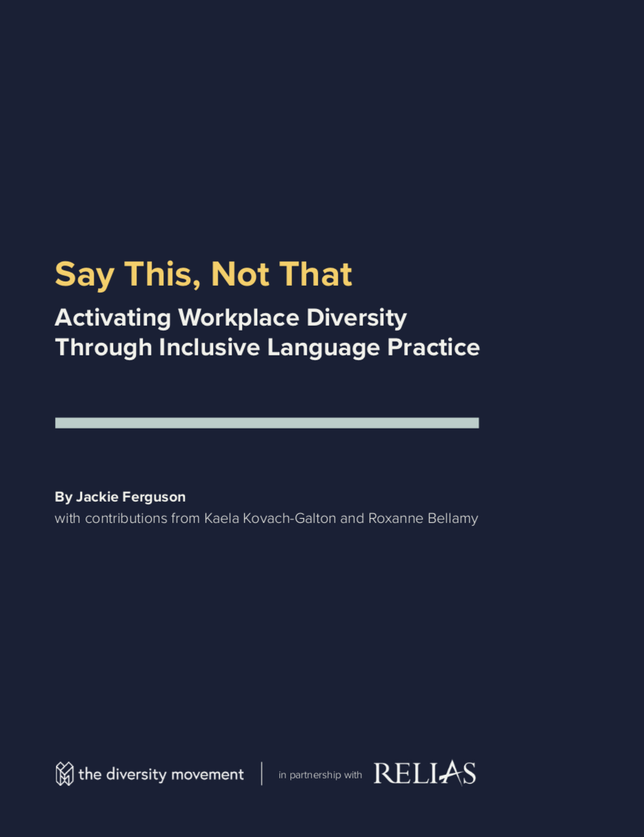 Screenshot of the cover page of the Say This, Not That white paper.