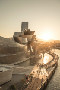 Sunset at Guggenheim Bilbao.