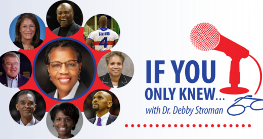 If you only knew podcast graphic with headshot of Dr. Stroman and her various guests