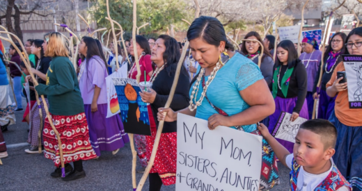 Tohono Indian Women leading the Tucson 2019 Women's March