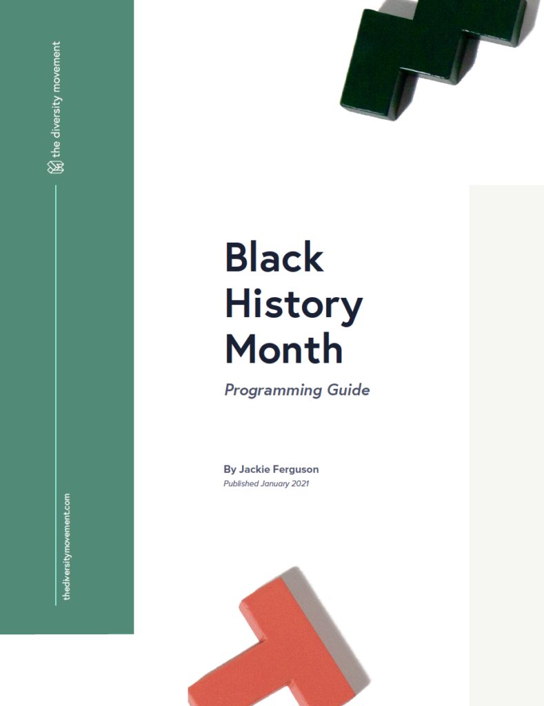 Black History Month Programming Guide Cover Page