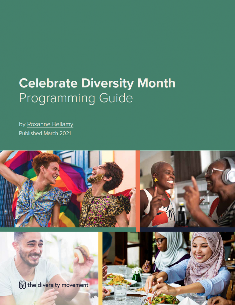 Celebrate Diversity Month Guide Cover with title displayed
