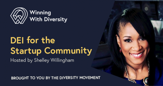 Shelley Willingham headshot on a Winning with Diversity podcast episode graphic