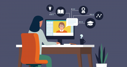 illustrated human resources officer working