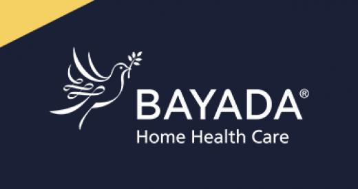 Bayada white logo