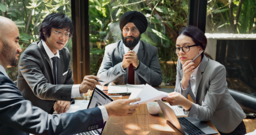 Diverse businesspeople in a meeting